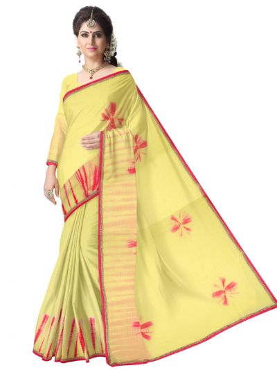 MDE3409098 - Sahithyam Designer Saree With Readymade Blouse