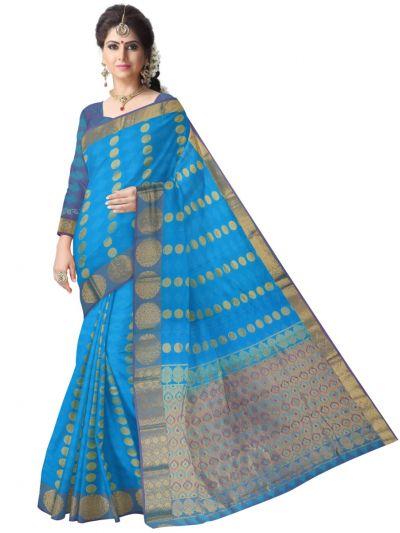 Bairavi Gift Art Silk Saree With Stone Work-MEA4548034