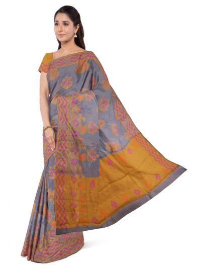 Sahithyam Dupion Tussar Silk Saree - MEA4597546