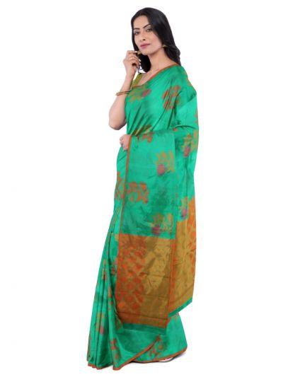 Sahithyam Dupion Tussar Silk Saree - MEA4597552