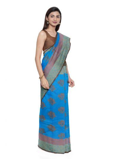 Sahithyam Dupion Tussar Silk Saree - MEA4597554