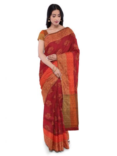 Sahithyam Dupion Tussar Silk Saree - MEA4597556