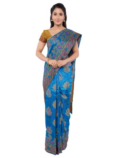 Sahithyam Dupion Tussar Silk Saree - MEA4597559