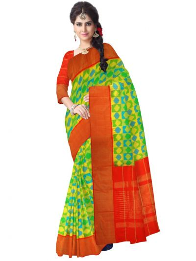 MEB6305412 - Pochampally Ikat Silk Saree