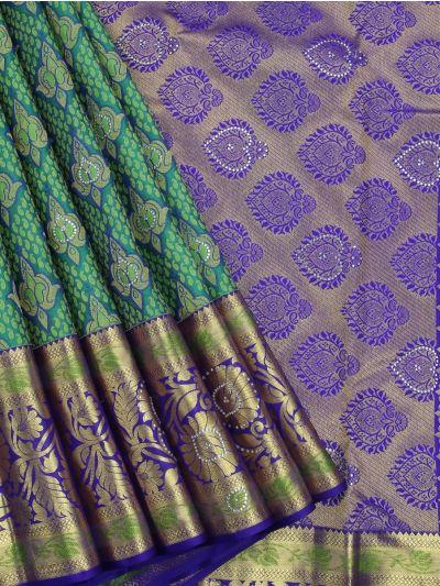 MEB6462488 - Vivaha Stone Work Wedding Silk Saree