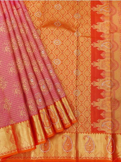Vivaha Wedding Kanchipuram Silk Saree With Stone Work Design - MEB6462494