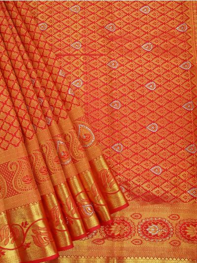 MEB6462502 - Vivaha Stonework wedding Silk Saree