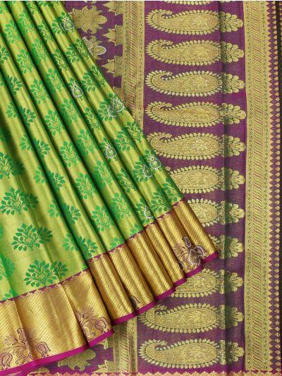 Vivaha Wedding Kanchipuram Silk Saree With Stone Work Design - MEB6462841