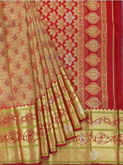 Vivaha Wedding Kanchipuram Silk Saree With Stone Work Design-MEB6462851