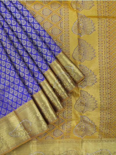Vivaha Wedding Kanchipuram Silk Saree With Stone Work Design-MEB6707086