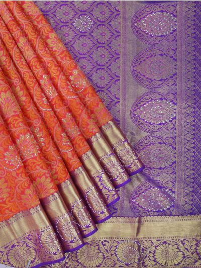Vivaha Wedding Kanchipuram Silk Saree With Stone Work Design-MEB6707087
