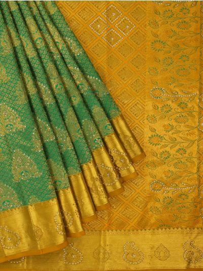 Vivaha Wedding Kanchipuram Silk Saree With Stone Work Design-MEB6707097
