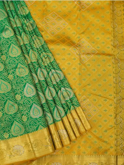 Vivaha Wedding Kanchipuram Silk Saree With Stone Work Design - MEB6707107