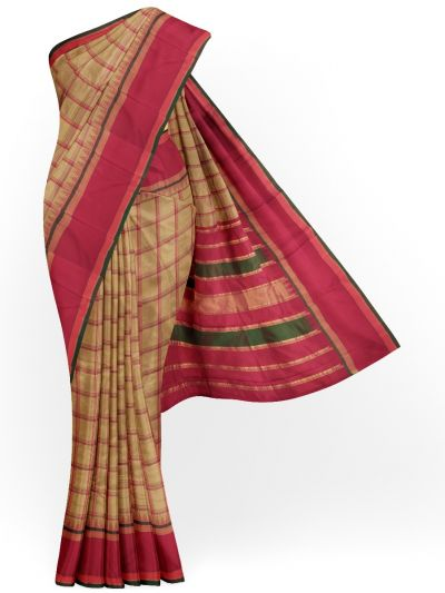 MEC7119787 - Vipanji Traditional Temple Border Design Silk Saree