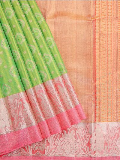 Vivaha Handloom Green Kanchipuram Silk Saree - MEC7141157