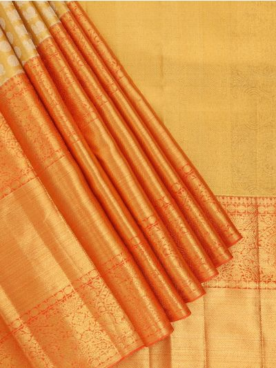 Vivaha Handloom Golden Color Kanchipuram Silk Saree - MEC7141166
