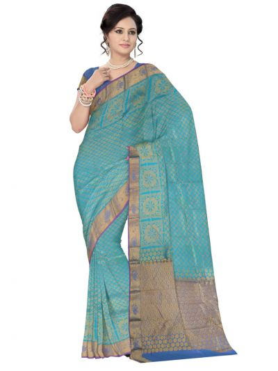 MEC7237348 - Bairavi Traditional Stone work Silk Saree