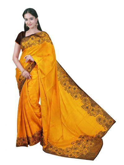 Kathana Exclusive Designer Embroidery Raw Silk Saree - MFB0977241