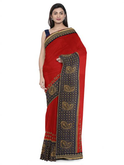 Kathana Exclusive Designer Embroidery Raw Silk Saree - MFB0977245