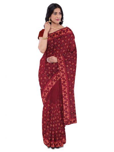 Kathana Exclusive Designer Embroidery Raw Silk Saree - MFB0977259