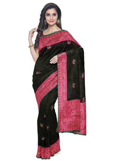 Kathana Exclusive Designer Embroidery Raw Silk Saree - MFB1095581