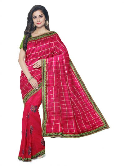 Kathana Exclusive Designer Embroidery Raw Silk Saree - MFB1095587