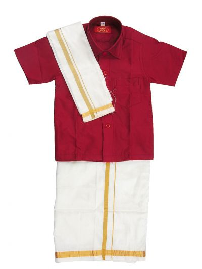 MR HOOKS Boys Cotton Dhoti Set - MGD0816983