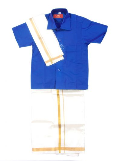 MR HOOKS Boys Cotton Dhoti Set - MGD0838590