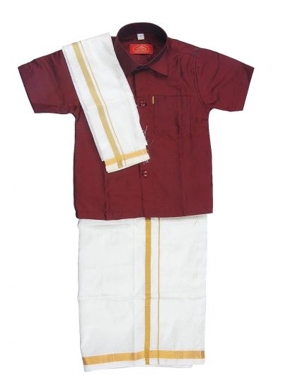 MR HOOKS Boys Cotton Dhoti Set - MGC9734565