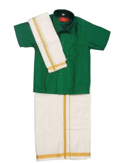 MR HOOKS Boys Cotton Dhoti Set - MGD0816980