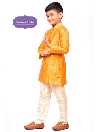 Sivasankari Babu Ethnic Wear Boys Kurta Pyjama Set - MFB6303514
