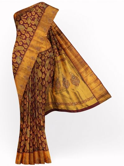 Vivaha Exclusive Wedding Kanchipuram Stone Work Silk Saree - MGB8888962