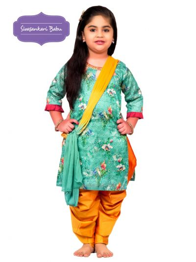 Sivasankari Babu Girls Hakoba Design Salwar Kameez - MGB9085893