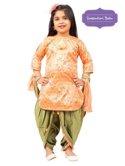 Sivasankari Babu Girls Hakoba Design Salwar Kameez - MGB9085900
