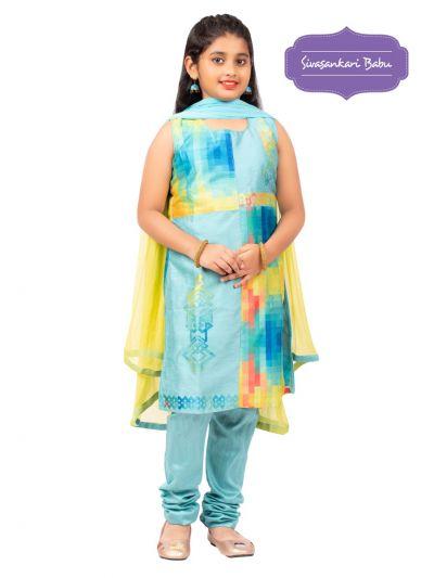 Sivasankari Babu Girls Assam Silk Salwar Kameez - MGB9596670