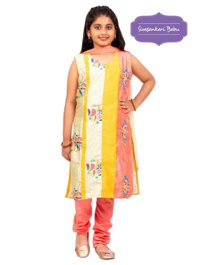 Sivasankari Babu Girls Assam Silk Salwar Kameez - MGB9596676