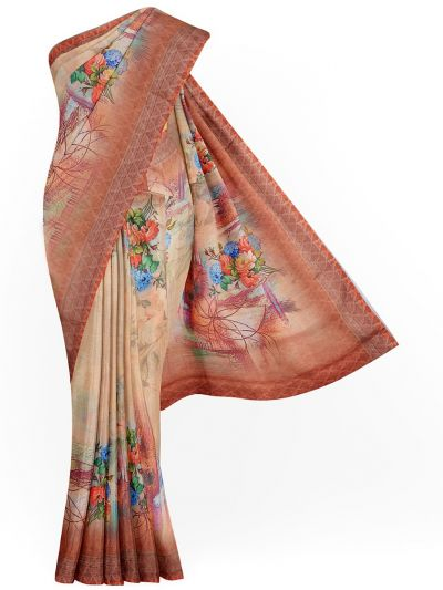 Kathana Exclusive Printed Linen Saree - MGC9890961