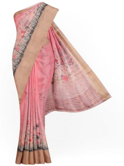 Kathana Exclusive Printed Linen Saree - MIA3009769