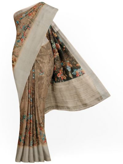 Kathana Exclusive Printed Linen Saree - MIA3009770