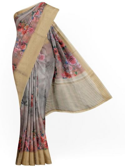 Kathana Exclusive Printed Linen Saree - MIA3009773
