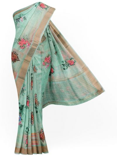 Kathana Exclusive Printed Linen Saree - MIA3009776