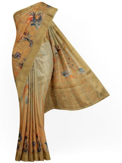 Kathana Exclusive Printed Linen Saree - MIA3009780