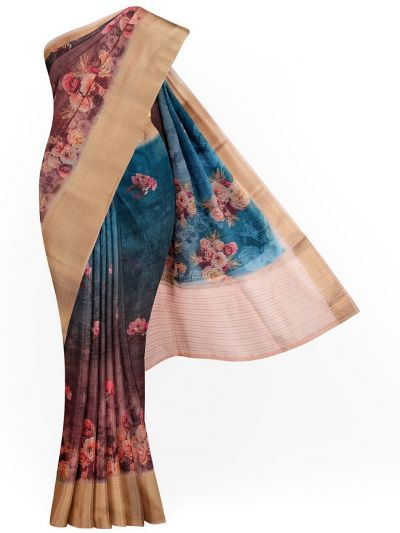 Kathana Exclusive Printed Linen Saree - MIA3009795