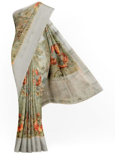 Kathana Exclusive Printed Linen Saree - MIA3009798