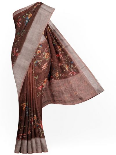 Kathana Exclusive Printed Linen Saree - MIA3009800