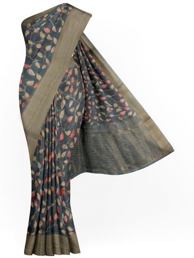 Kathana Exclusive Printed Linen Saree - MIA3009802