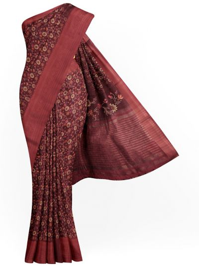 Kathana Exclusive Printed Linen Saree - MIA3009803