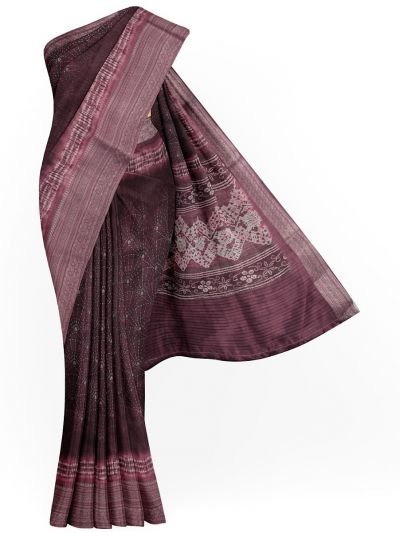 Kathana Exclusive Printed Linen Saree - MIA3009804