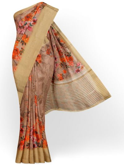 Kathana Exclusive Printed Linen Saree - MIA3009806
