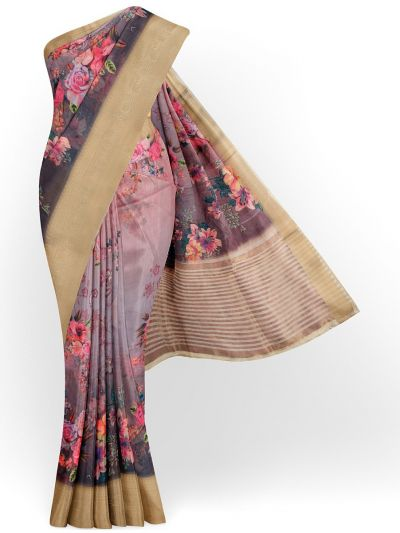 Kathana Exclusive Printed Linen Saree - MIA3009808